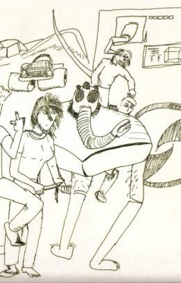 Early cartoon by Sam Battin